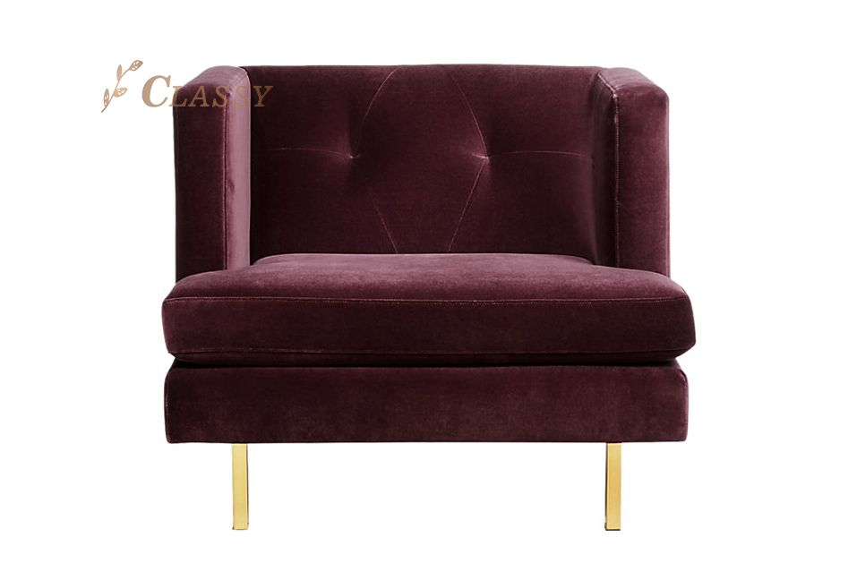 Modern Comfortable Velvet Chair