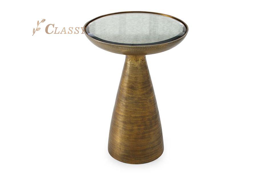 Antique Design Brass Side Table