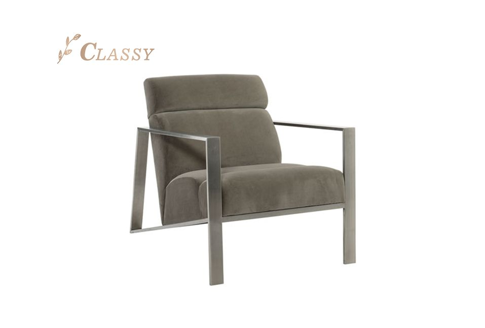 Velvet Occasional Accent Chair