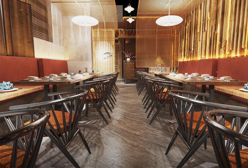 Modern Restaurant Interior Design Idea