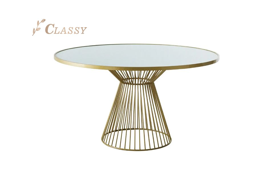 Chic Design White Back Painted Glass Dining Table