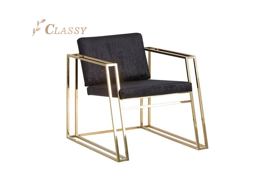 Stainless Steel Hotel Lobby Chair Commercial Hospitality Seating
