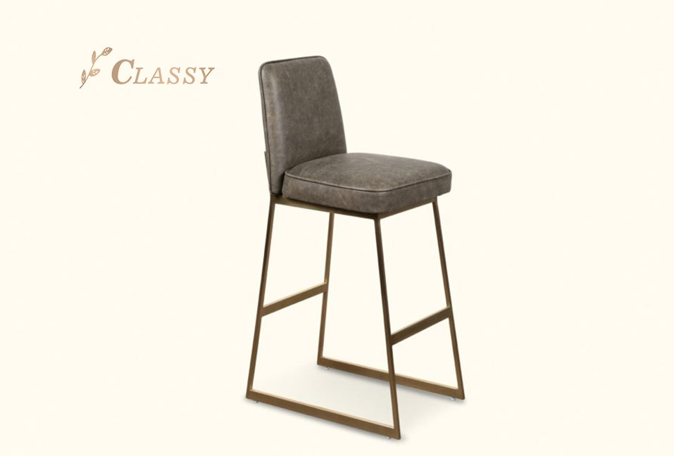 Elysian Bar Chair Stainless Steel PU Seat and Back