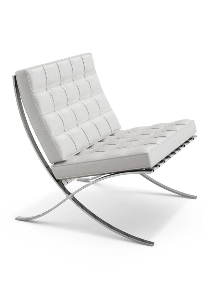 Barcelona Lounge Chair Stainless Steel PU Seat and Back