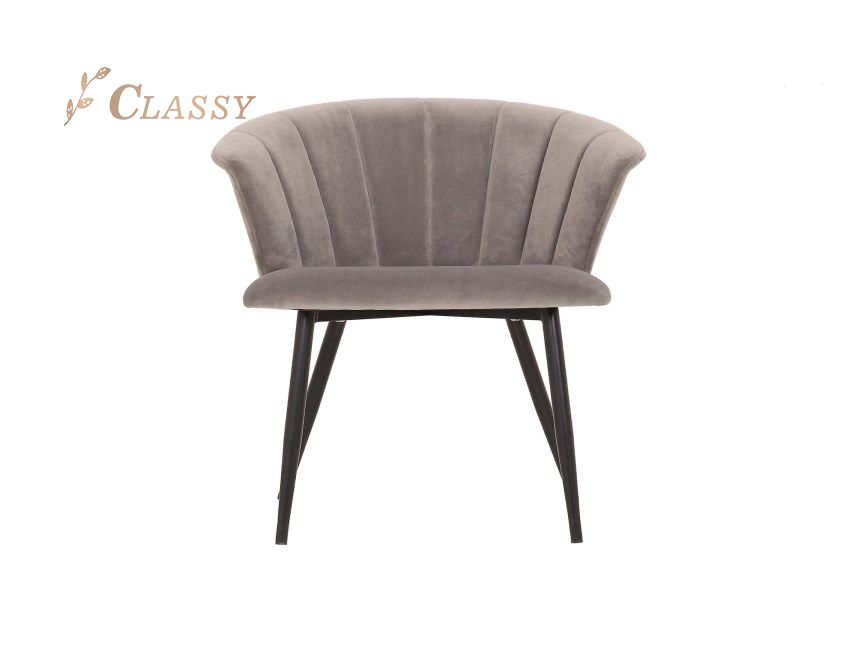Gray Fabric Dining Chair