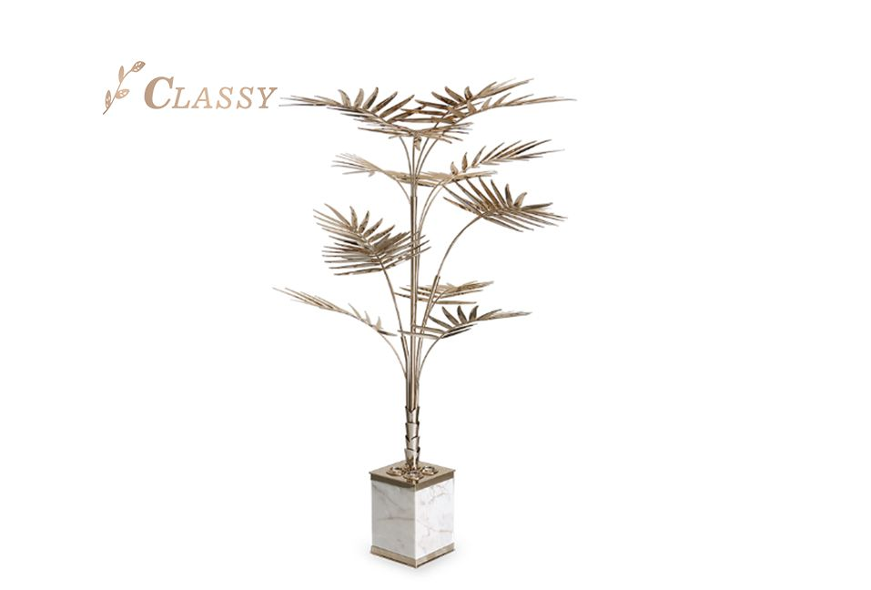 Hotel Decoration Art Gold Tree Plant