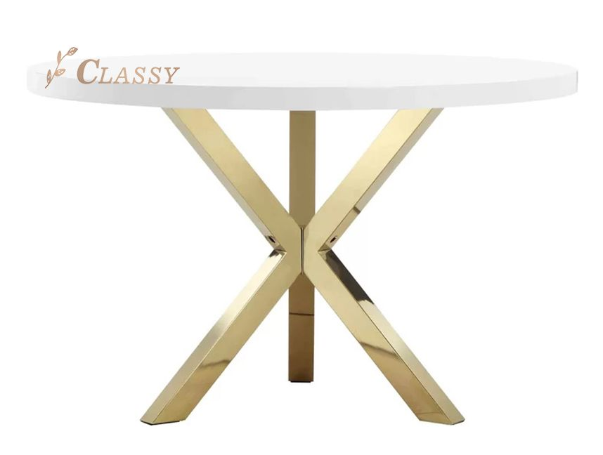 Contemporary Rounded Dining Table