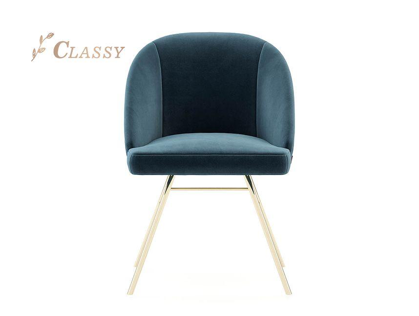 Popular Bar Chair Metal Base With Velvet