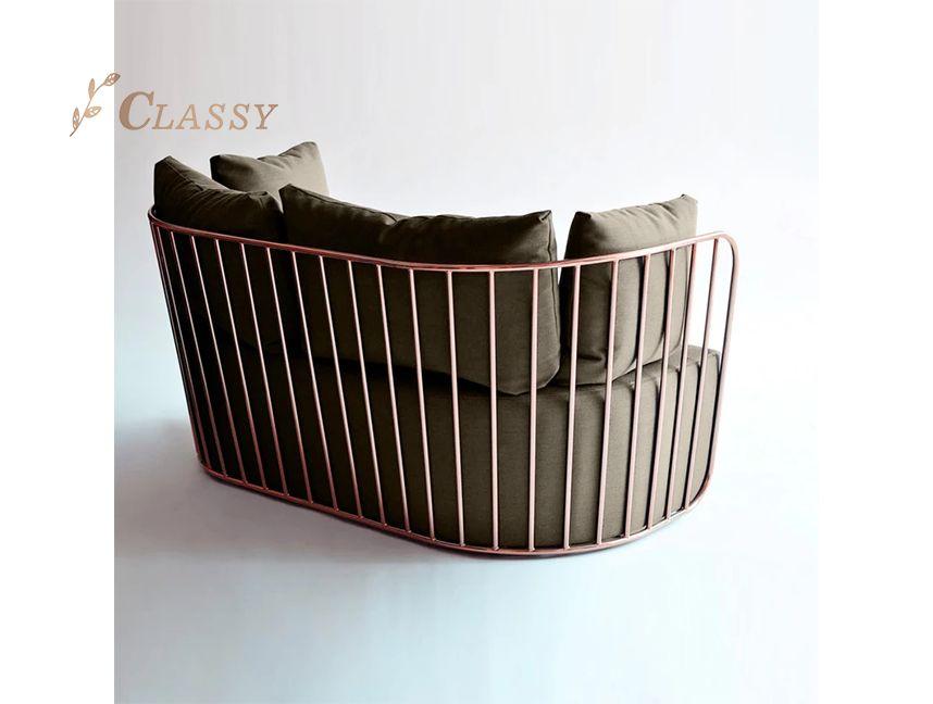 Luxury metal sofa set