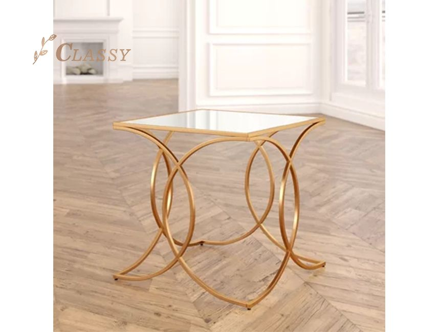 Metal mini end table