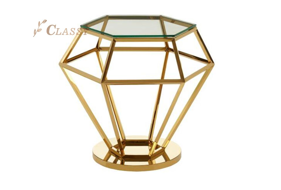 Luxury Diamond Side Table