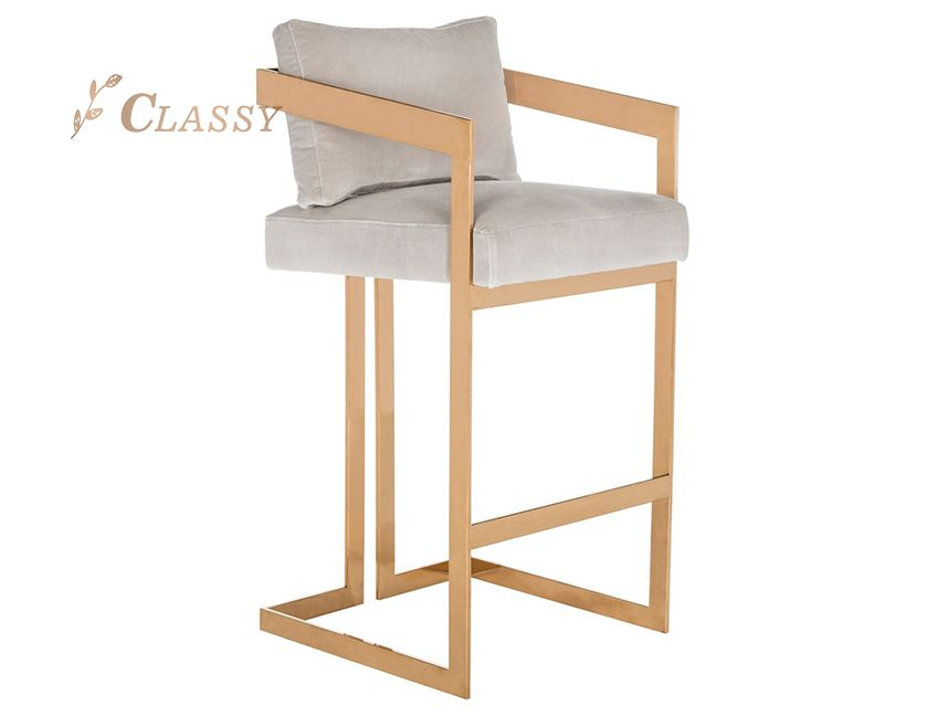 Rose Golden Barchair For Club