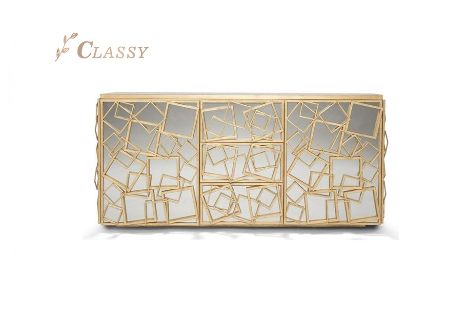 Mirror Square Metal Cabinet
