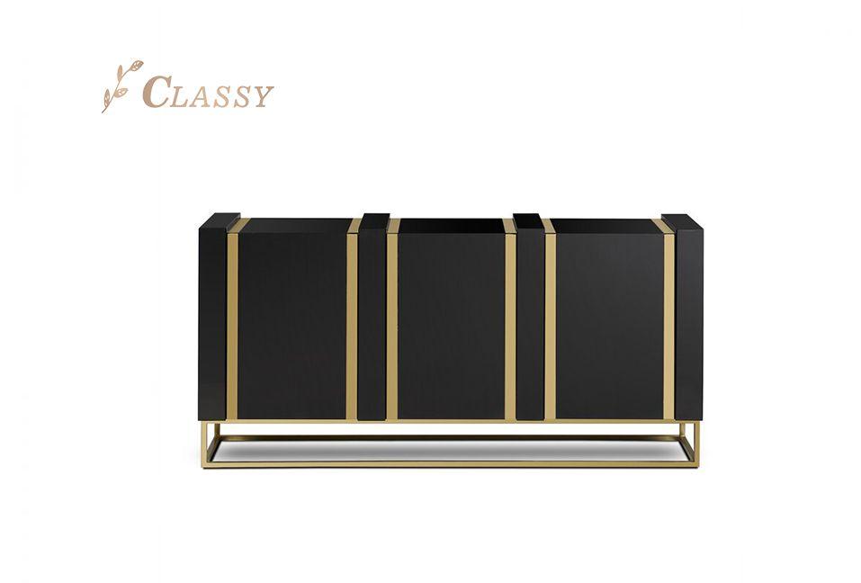 Golden Frame Wooden Cabinet
