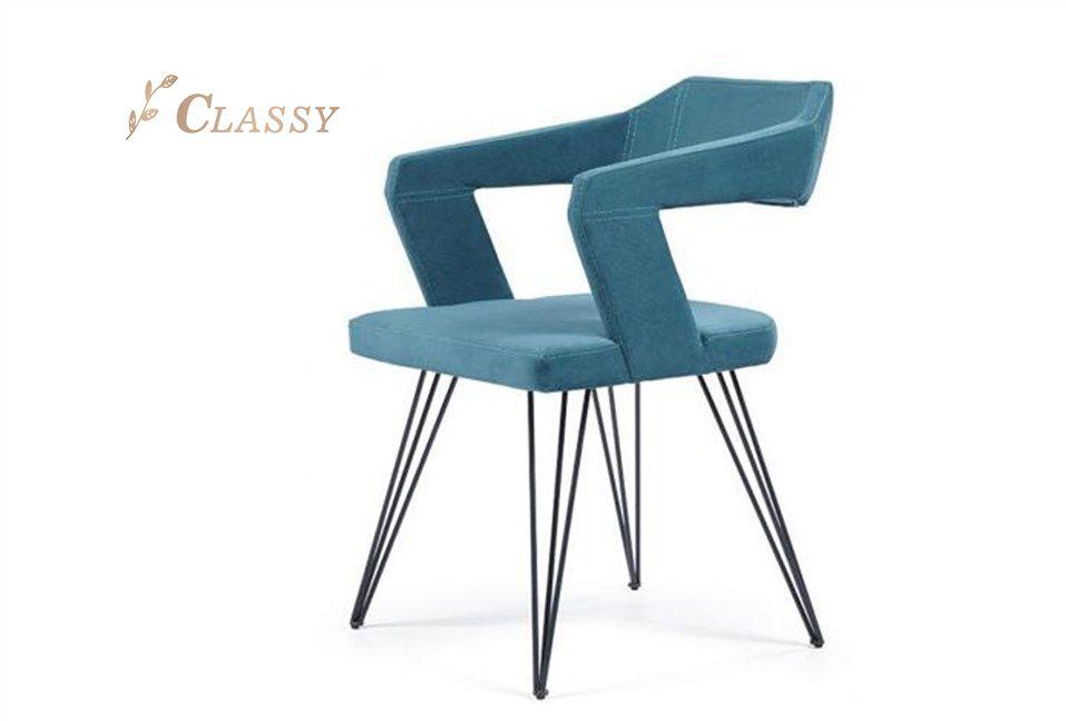 Black Steel Dinette Chair