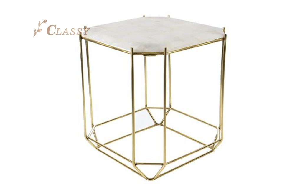 Marble Steel Side Table