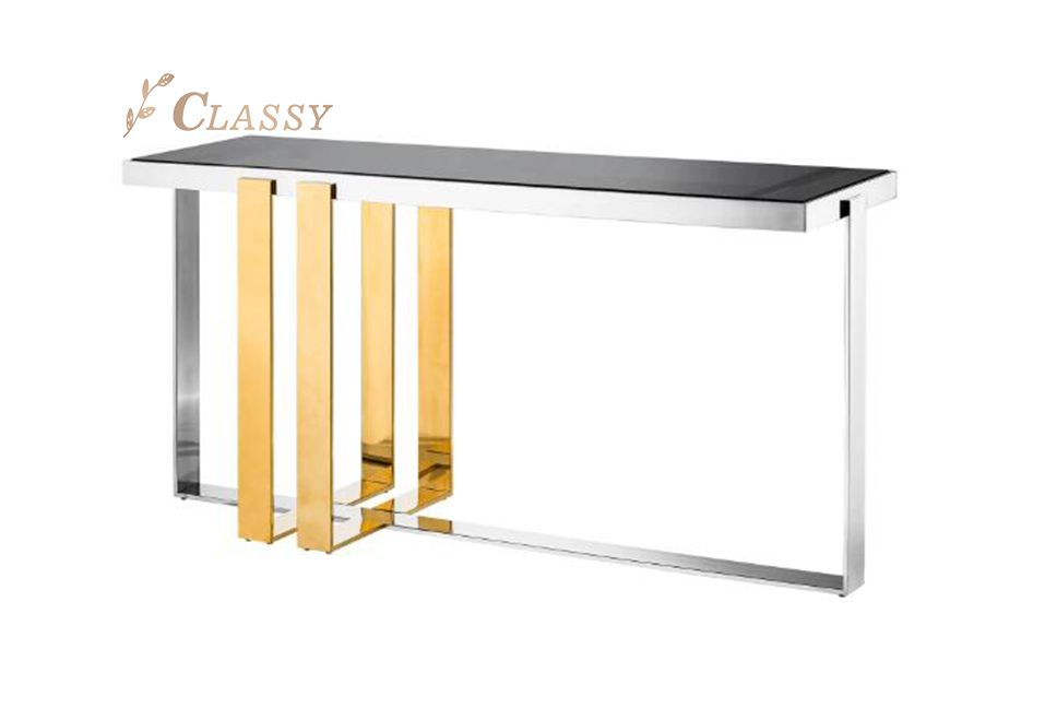 Mirror Steel Console Table
