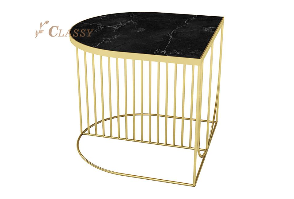 Semi-ellipse Bed Side Table