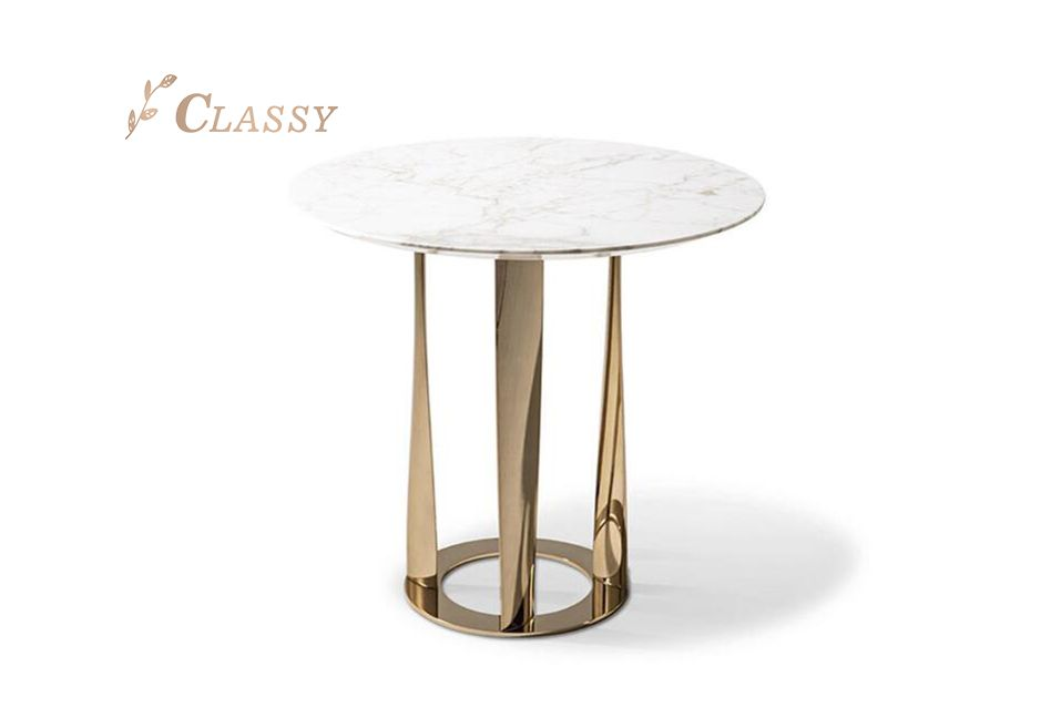 Marble Small Side Table