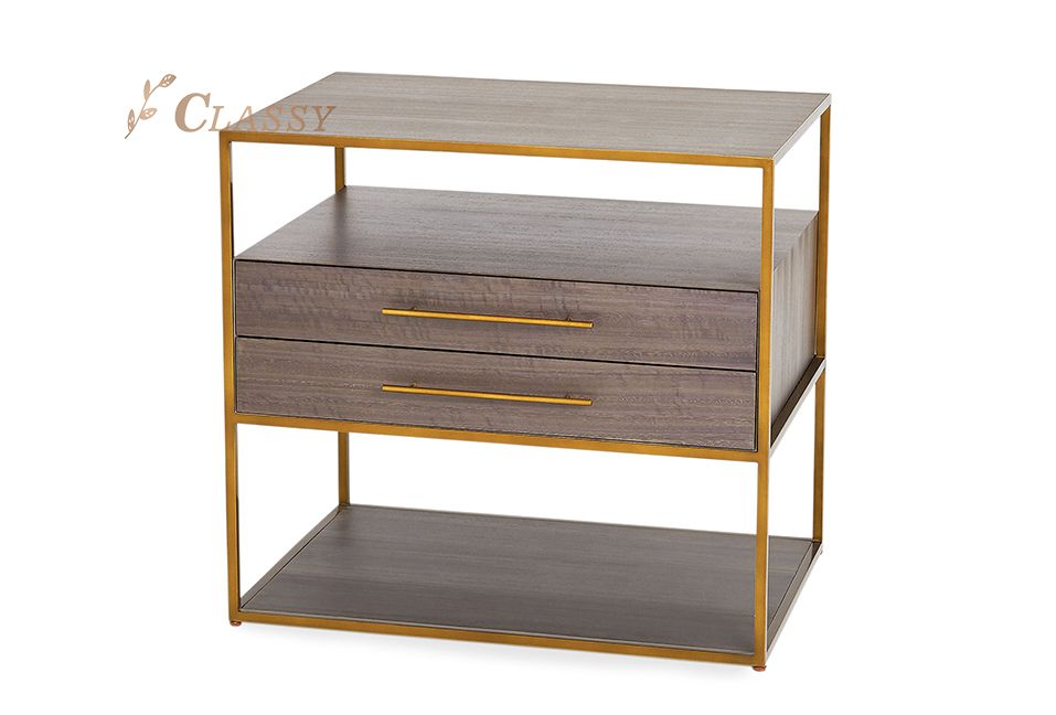 Two Layer Bedside Cabinet