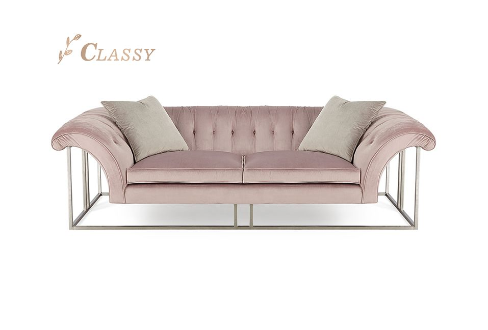Sliver Steel Elegant Leisure Sofa
