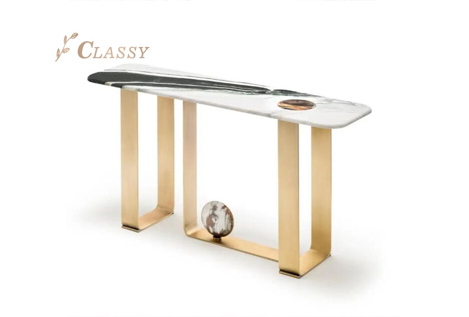 Natural Marble Classical Console