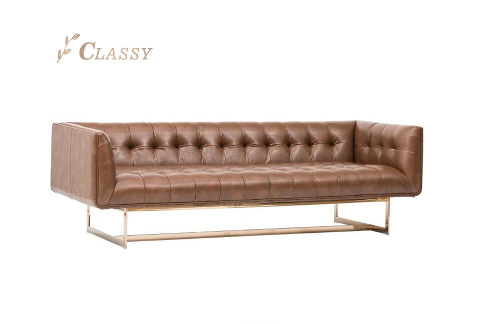 Stylish Chesterfield Leather Sofa