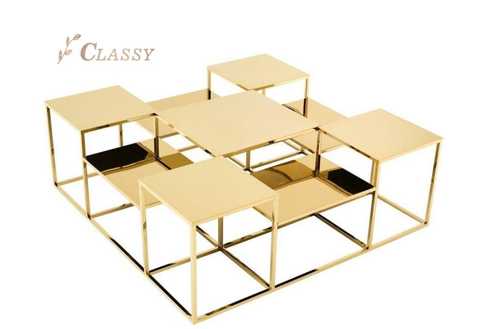 Interior Cube Mirror Coffee Table