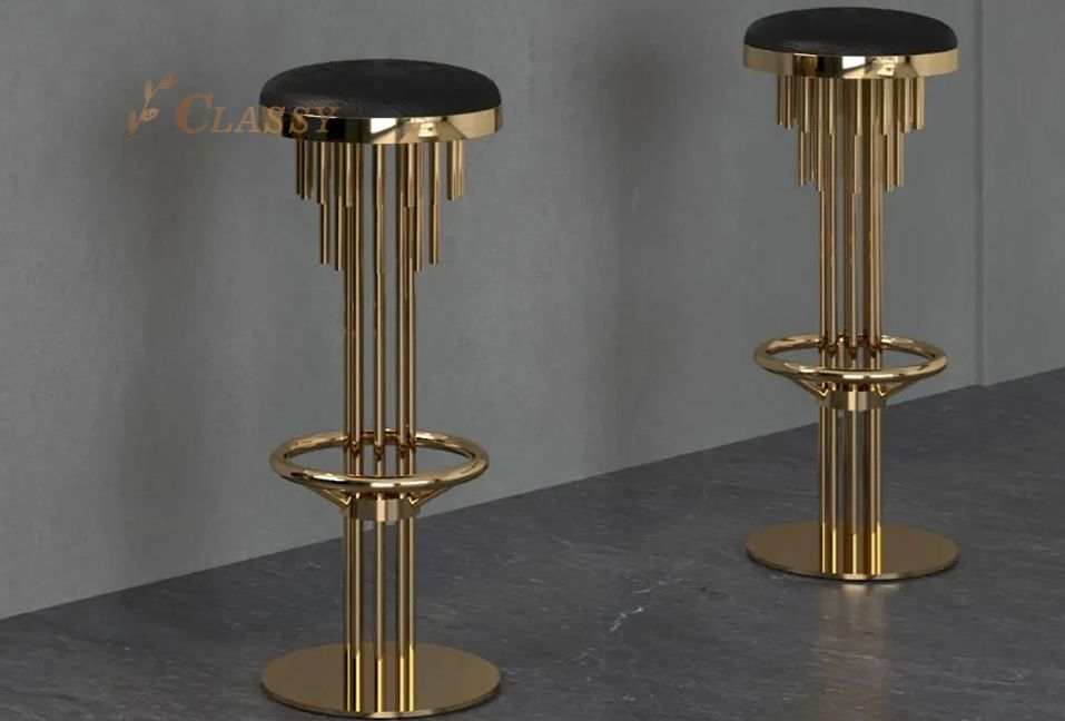 Luxury Leather Bar Stool