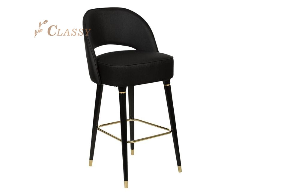Black Powder Coated Bar Stool